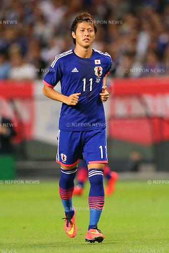 Yoichiro Kakitani (JPN), <br /> SEPTEMBER 5, 2014 - Football / Soccer : <br /> KIRIN Challenge Cup 2014 <br /> match between Japan - Uruguay <br /> at Sapporo Dome, Hokkaido, Japan. <br />  (Photo by Yohei Osada/AFLO SPORT) [1156]