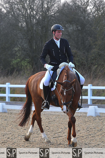 Class 10. British Dressage. Brook Farm Training Centre. Essex. 12/03/2016. MANDATORY Credit Ellie Ingram/Sportinpictures - NO UNAUTHORISED USE - 07837 394578