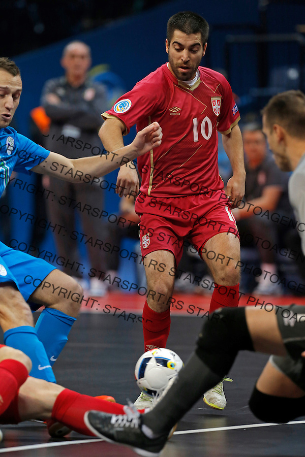 Mladen Kocic UEFA Euro 2016 Futsal Evropsko Prvenstvo, Srbija - Slovenija 2.2.1016. Februar 2. 2016. (credit image & photo: Pedja Milosavljevic / STARSPORT)