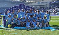 Manchester City crowned Premiership Champions<br /> <br /> Photographer David Horton/CameraSport<br /> <br /> The Premier League - Brighton and Hove Albion v Manchester City - Sunday 12th May 2019 - The Amex Stadium - Brighton<br /> <br /> World Copyright © 2019 CameraSport. All rights reserved. 43 Linden Ave. Countesthorpe. Leicester. England. LE8 5PG - Tel: +44 (0) 116 277 4147 - admin@camerasport.com - www.camerasport.com