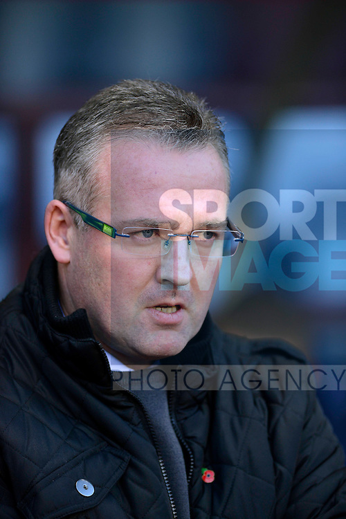 Aston Villa manager Paul Lambert - Football - Barclays Premier League - Aston Villa vs Cardiff City - Villa Park Birmingham - Season 2013-14 - 9th November 2013 - Credit Malcolm Couzens/Sportimage