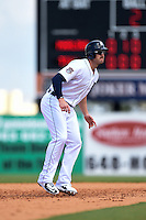 Detroit Tigers infielder Aaron Westlake (80) during a Spring Training game against the Miami Marlins on March 25, 2015 at Joker Marchant Stadium in Lakeland, Florida.  Detroit defeated Miami 8-4.  (Mike Janes/Four Seam Images)
