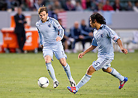 CARSON, CA - April 1, 2012: Bobby Convey (11) of KC during the Chivas USA vs Sporting KC match at the Home Depot Center in Carson, California. Final score Sporting KC 1, Chivas USA 0.