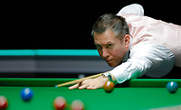 26th November 2019; York, England;  Dominic Dale of Wales competes during the UK Snooker Championship 2019 first round match with Liang Wenbo of China in York on Nov. 26, 2019.