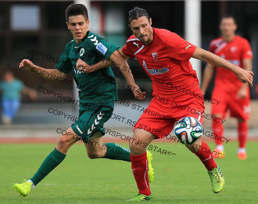 Fudbal season 2013-2014<br /> FK Crvena Zvezda pripreme<br /> Crvena Zvezda v Krka<br /> Djordje Rakic (R)<br /> Novo Mesto, 07.12.2014.<br /> foto: Srdjan Stevanovic/Starsportphoto &copy;