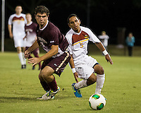 The Winthrop University Eagles played the College of Charleston Cougars at Eagles Field in Rock Hill, SC.  College of Charleston broke the 1-1 tie with a goal in the 88th minute to win 2-1.  C.J. Miller (5), Brock King (15)