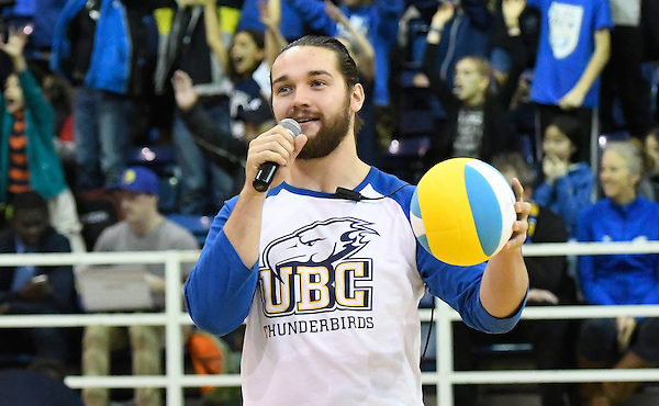 VANCOUVER,BC:NOVEMBER 25, 2016 -- UBC Thunderbirds Trinity Western University Spartans during U Sports Canada West volleyball action at UBC in Vancouver, BC, November, 25, 2016. (Rich Lam/UBC Athletics Photo) <br /> <br /> ***MANDATORY CREDIT***