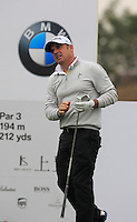 Paul McGinley (IRL) tees off the 4th tee during Thursday's Round 1 of the 2014 BMW Masters held at Lake Malaren, Shanghai, China 30th October 2014.<br /> Picture: Eoin Clarke www.golffile.ie