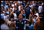 Racing Club soccer fans go berzerk when the team won the championship for the first time in over 30 years.