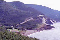 "Rugged Coastline along the ""Cabot Trail"" at ""Cap Rouge"", Cape Breton Highlands National Park, Cape Breton Island, Nova Scotia, NS, Canada - Gulf of St. Lawrence / Atlantic Ocean"