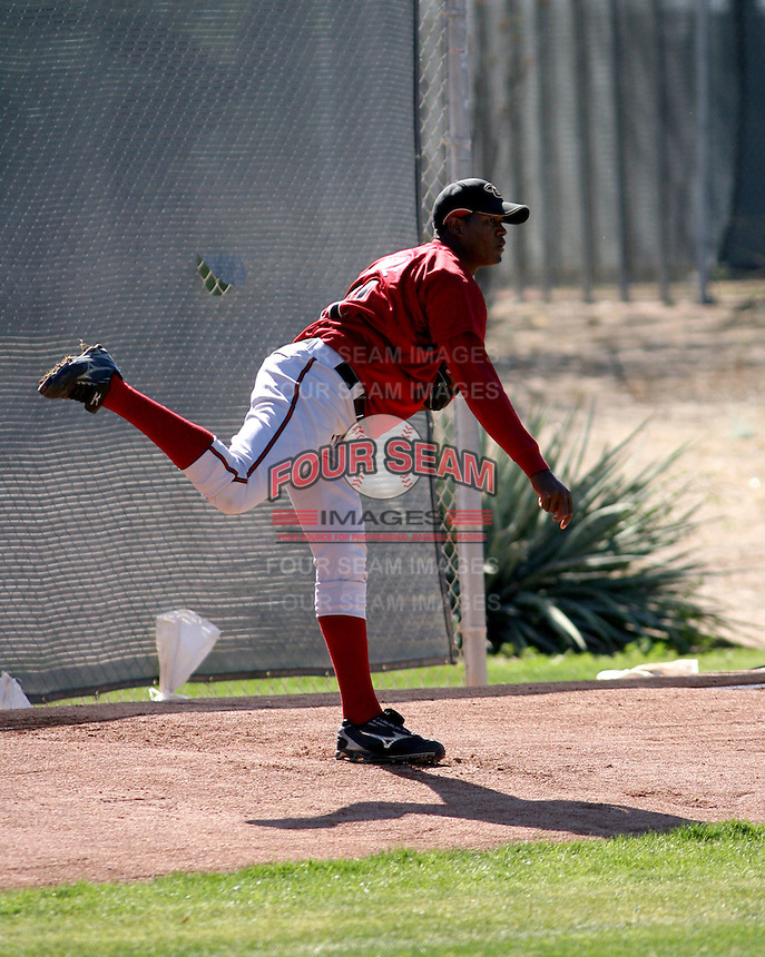 Christian Beltre - Arizona Diamondbacks 2008 spring training..Photo by:  Bill Mitchell/Four Seam Images