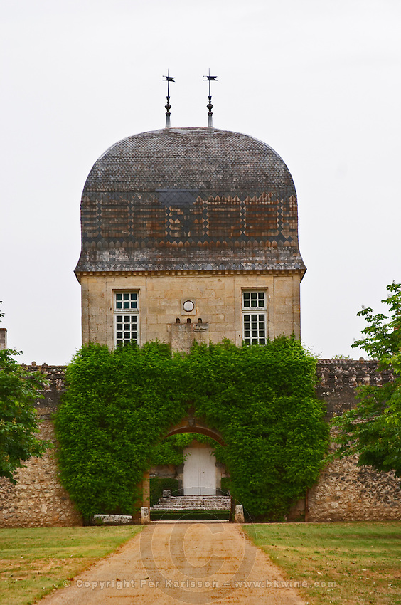Chateau de Sales with cupola like building Pomerol Bordeaux Gironde Aquitaine France