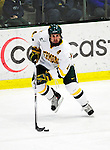 30 January 2010: University of Vermont Catamount defenseman Patrick Cullity, a Senior from Tewsbury, MA, in action against the University of Maine Black Bears at Gutterson Fieldhouse in Burlington, Vermont. The Maine Black Bears and the Catamounts played to a 4-4 tie in the second game of their America East weekend series. Mandatory Credit: Ed Wolfstein Photo