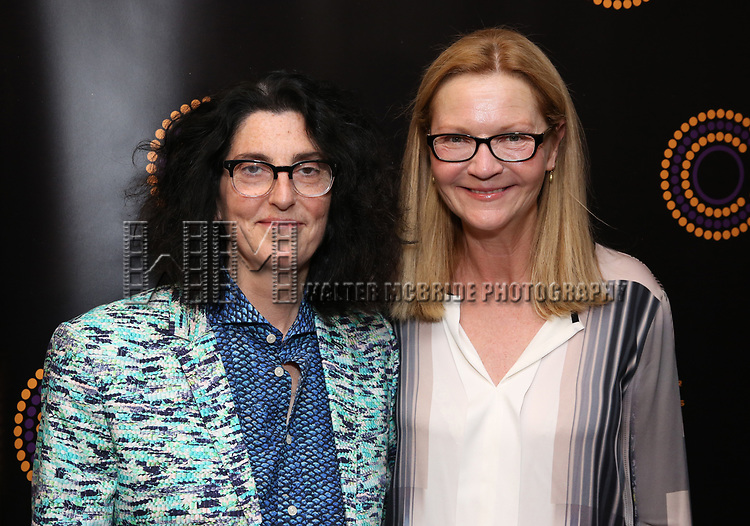 Tina Landau and Joan Allen attends the 2018 Outer Critics Circle Theatre Awards at Sardi's on May 24, 2018 in New York City.