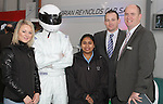 Kasia Glinka, Vinky Ramma, Alan Black and Alan Reynolds from Brian Reynolds with a Mazda Racing Car Driver at the Drogheda Motor Show...(Photo credit should read Jenny Matthews www.newsfile.ie)....This Picture has been sent you under the condtions enclosed by:.Newsfile Ltd..The Studio,.Millmount Abbey,.Drogheda,.Co Meath..Ireland..Tel: +353(0)41-9871240.Fax: +353(0)41-9871260.GSM: +353(0)86-2500958.email: pictures@newsfile.ie.www.newsfile.ie.