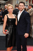 "Sam Taylor Wood and husband, Aaron Taylor-Johnson arrives for the ""Godzilla"" premiere at the Odeon Leicester Square, London. 11/05/2014 Picture by: Steve Vas / Featureflash"