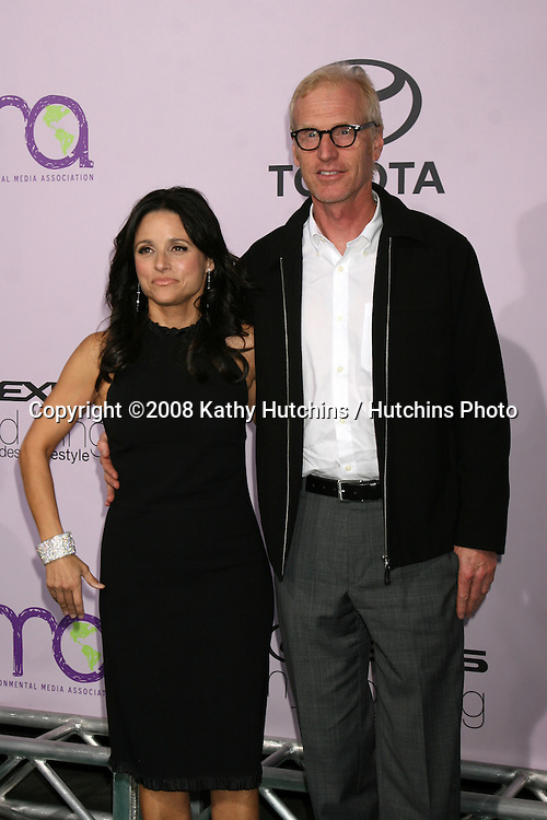 Julia Louis-Dreyfus & Brad Hall arriving at the Environmental Media Awards at the Ebell Theater in Los Angeles, CA on .November 13, 2008.©2008 Kathy Hutchins / Hutchins Photo...                . .