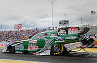 Jun. 2, 2012; Englishtown, NJ, USA: NHRA funny car driver John Force during qualifying for the Supernationals at Raceway Park. Mandatory Credit: Mark J. Rebilas-