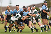 A. Tapu is sandwiched between T. Davies & M. Selwyn. CMRFU Premier Club Rugby round 4 game between Manurewa & Weymouth played at Manurewa on the 5th of May 2007. Manurewa led 24 - 0 at halftime and went on to win 43 - 7.