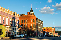 The view down Harrison Street in Leadville, Colorado, Thursday, May 11, 2017. Leadville, which has historically been a home for low income residents who work in higher income towns, is beginning to see signs of development and high prices.<br /> <br /> Photo by Matt Nager