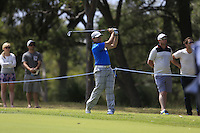 Simon Houston (AUS) on the 18th during Round 1 of the ISPS HANDA Perth International at the Lake Karrinyup Country Club on Thursday 23rd October 2014.<br /> Picture:  Thos Caffrey / www.golffile.ie