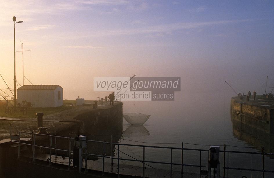 Europe/France/Poitou-Charentes/17/Charente-Maritime/Rochefort: Les bords de la Charente à l'aube