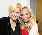 Mary-Mitchell Campbell and Kristin Chenoweth backstage during the Opening Night of Kristin Chenoweth - 'My Love Letter To Broadway'  at the Lunt-Fontanne Theatre on November 2, 2016 in New York City.
