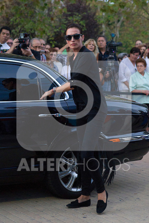 Nieves Alvarez visits San Isidro funeral home following the death of Miguel Boyer in Madrid, Spain. September 29, 2014. (ALTERPHOTOS/Victor Blanco)