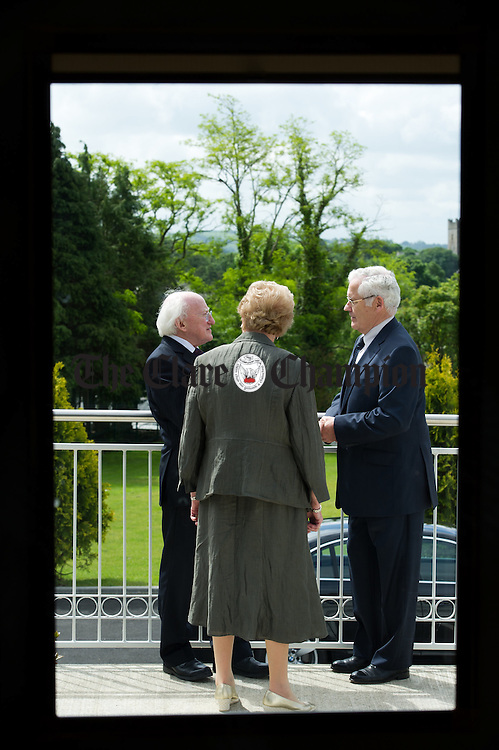 President Michael D Higgins with Kevin Norton, chairman of the Alzheimers Society of Ireland and Lillian Sullivan, Director of the Alzheimers Society of Ireland at the official opening of the Watermans Lodge day Care and Respite centre at Ballina. Photograph by John Kelly.