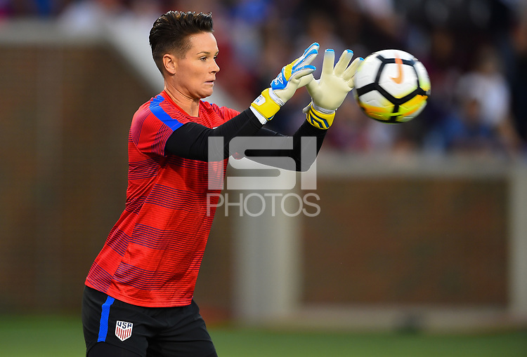 Cincinnati, OH - Tuesday September 19, 2017: Ashlyn Harris during an International friendly match between the women's National teams of the United States (USA) and New Zealand (NZL) at Nippert Stadium.