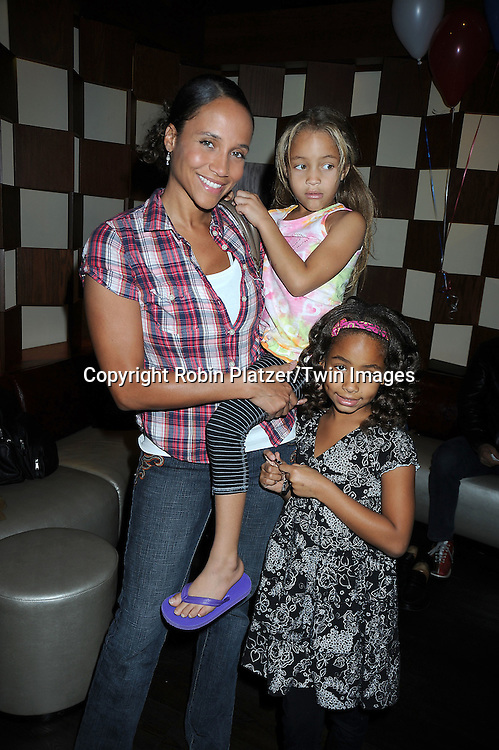 Yvonna Kopacz and daughters Marley and Lola attending the 7th Annual Daytime Stars and Strikes Bowling Event on October 10, 2010 at Leisure Time Bowling Facility in New York City. The event benefited The American Cancer Society.