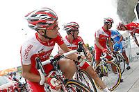 Florent Barle, Nico Sijmens, Mickael Buffaz and David Moncoutie before the stage of La Vuelta 2012 beetwen Santander-Fuente De.September 5,2012. (ALTERPHOTOS/Acero) /NortePhoto.com<br /> <br /> **CREDITO*OBLIGATORIO** *No*Venta*A*Terceros*<br /> *No*Sale*So*third* ***No*Se*Permite*Hacer Archivo***No*Sale*So*third
