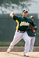 Arnold Leon - Oakland Athletics - 2009 spring training.Photo by:  Bill Mitchell/Four Seam Images
