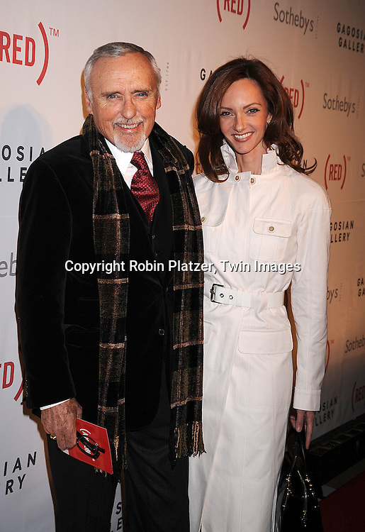 Dennis Hopper and wife Victoria.at The (RED) Auction at Sotheby's on February 14, 2008 in New York City. The event is designed to raise money for the treatment of HIV/AIDS in Africa. .Robin Platzer, Twin Images..212-935-0770