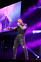 LONDON, ENGLAND - FEBRUARY 7: Keith Duffy  of 'Boyzone' performing at the O2 Arena on February 7, 2019 as part of their 'Thank You &amp; Goodnight' Farewell Tour in London, England.<br /> CAP/MAR<br /> &copy;MAR/Capital Pictures