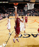 Nov 6, 2010; Charlottesville, VA, USA; Roanoke College Joey Leech (42) shoots the ball Saturday afternoon in exhibition action at John Paul Jones Arena. The Virginia men's basketball team recorded an 82-50 victory over Roanoke College.