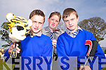 PUTTERS: Back from the Irish Open Golf tournament clinic in Adare Manor at the weekend were students of Presentation Secondary School, Milltown, l-r: John Lawlor, Conor Counihan, Daniel Lawlor.   Copyright Kerry's Eye 2008