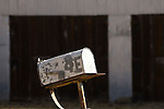Old metal mailbox by a ranch in the Gabilan Range of Calif.