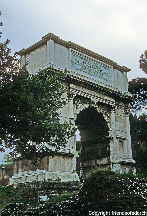 Italy: Rome--Arch of Titus, 81-96 A.D.