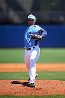 Charlotte Stone Crabs relief pitcher Jeff Howell (35) delivers a pitch during a game against the Palm Beach Cardinals on April 10, 2016 at Charlotte Sports Park in Port Charlotte, Florida.  Palm Beach defeated Charlotte 4-1.  (Mike Janes/Four Seam Images)