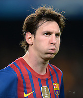 FUSSBALL   CHAMPIONS LEAGUE SAISON 2011/2012   HALBFINALE   RUECKSPIEL        FC Barcelona - FC Chelsea       24.04.2012 Lionel Messi (Barca) ist enttaeuscht