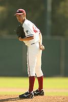14 October 2007: Stanford Cardinal Carey Schwartz during Stanford's 10-3 win in the Alumni game at Sunken Diamond in Stanford, CA.