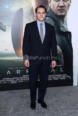 "Westwood, CA - NOVEMBER 06: Michael Stuhlbarg at Premiere Of Paramount Pictures' ""Arrival"" At Regency Village Theatre, California on November 06, 2016. Credit: Faye Sadou/MediaPunch"