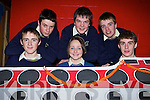 Colaiste na Sceilge pupils front row l-r: Gearoid Sugrue, Ailish O'Shea, Cathal Keating. Back row: Alan O'Donoghue, Finian Falvey and Conor Browne in rehearsals for their musical Annie in the Wild West in the school Thursday   Copyright Kerry's Eye 2008