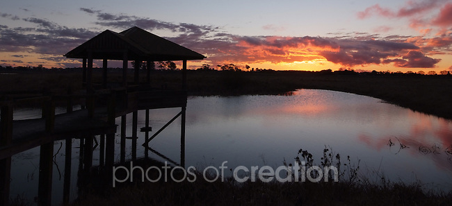 Sundown on Mother of Ducks Lagoon Guyra NSW