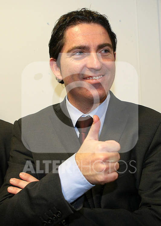 FC Barcelona's coach Xavi Pascual celebrates the victory after Spanish Basketball King's Cup Final match.(ALTERPHOTOS/Acero)