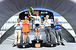 Emanuel Buchmann (GER) Bora-Hansgrohe takes over the young riders white jersey on the podium at the end of Stage 6 of the Criterium du Dauphine 2017, running 147.5km from Parc des Oiseaux - Villars-les-Dombes to La Motte-Servolex, France. 9th June 2017. <br /> Picture: ASO/A.Broadway | Cyclefile<br /> <br /> <br /> All photos usage must carry mandatory copyright credit (&copy; Cyclefile | ASO/A.Broadway)
