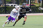 Orange, CA 05/16/15 - Lucas DeJong (Grand Canyon #15) and Hart Wise (Colorado #32) in action during the 2015 MCLA Division I Championship game between Colorado and Grand Canyon, at Chapman University in Orange, California.