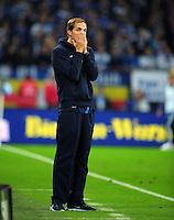 FUSSBALL   1. BUNDESLIGA   SAISON 2012/2013   5. SPIELTAG FC Schalke 04 - FSV Mainz 05                               25.09.2012        Trainer Thomas Tuchel (FSV Mainz 05) enttaeuscht
