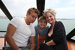 """As The World Turns - Billy Magnussen (son of """"Margo"""") and Ellen Dolan and her daughter Angela on the 12th Annual SoapFest - Cruisin' & Schmoozin' on the Marco Island Princess to raise dollars to benefit Marco Island YMCA, theatre program & Art League of Marco Island on May 16, 2010 on Marco Island, FLA. (Photo by Sue Coflin/Max Photos)"""